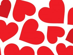 290x220 Free Vector Heart Shaped Background Material