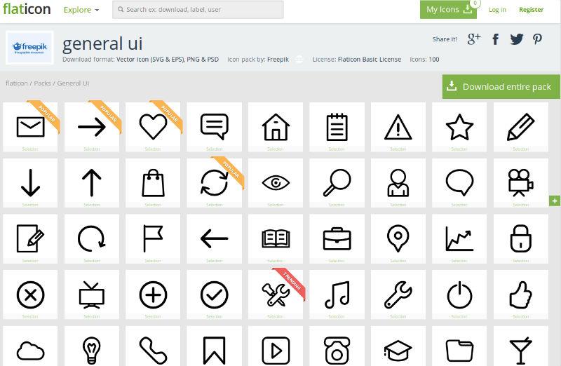 Free Vector Icon Set