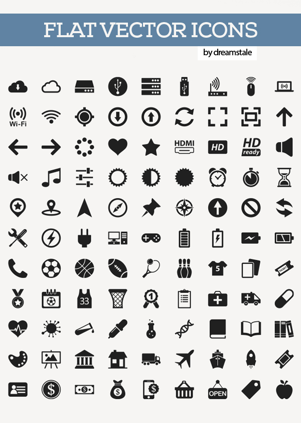 600x842 Free Flat Vector Icons Pack Icons Graphic Design Junction