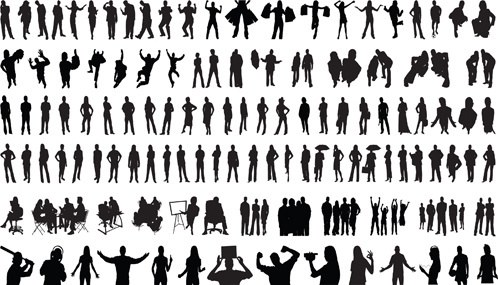 498x285 Free Vector People Silhouettes Free Vector Download (10,900 Free