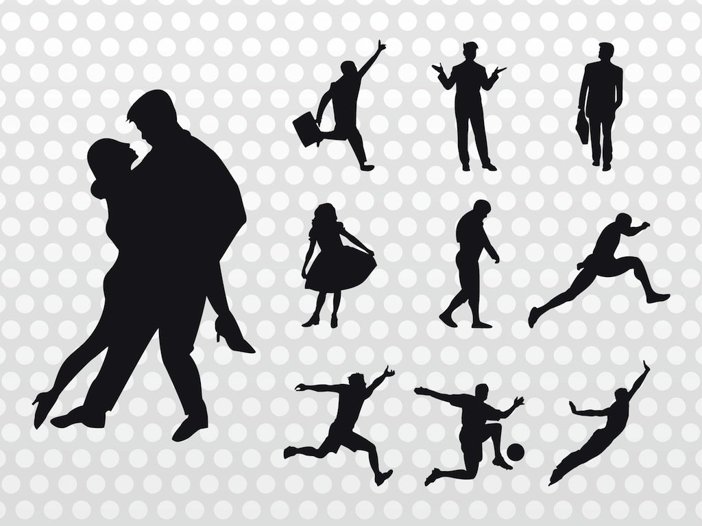 1024x767 People Silhouettes Vector Vector Art Amp Graphics