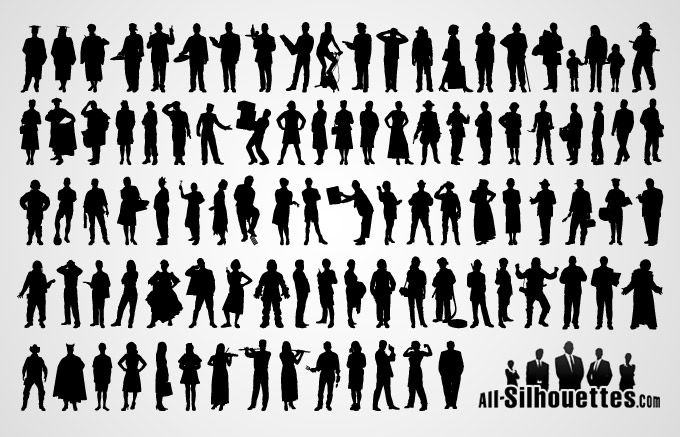 680x437 Scale Figures Vector People Silhouette Vector Free Free Vector