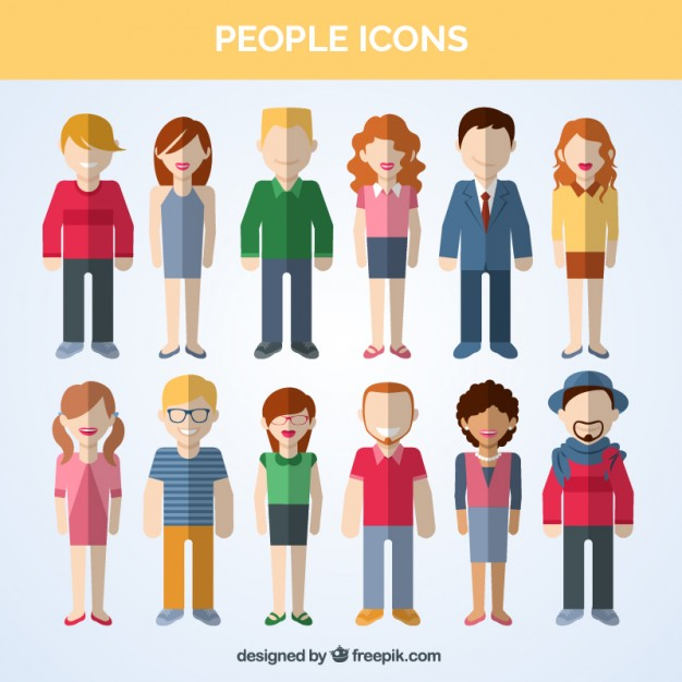 626x626 Variety Of People Icons Vector Free Download
