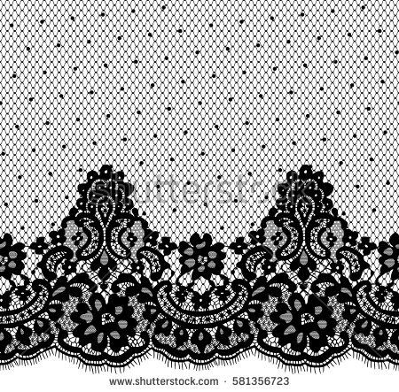 450x443 Seamless Black Vector Lace Pattern Lace Lace