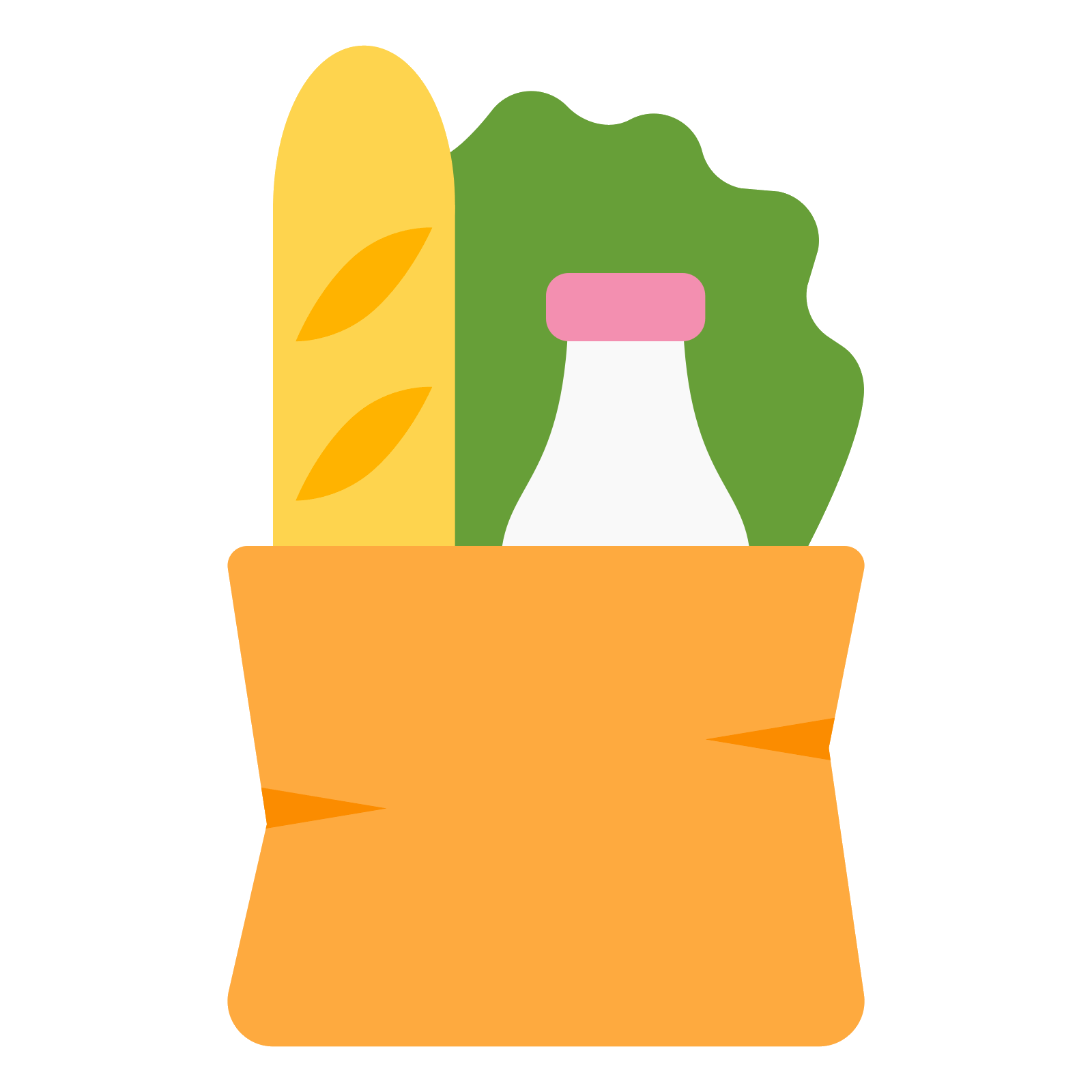 1600x1600 15 Groceries Vector Full Shopping Bag For Free Download On