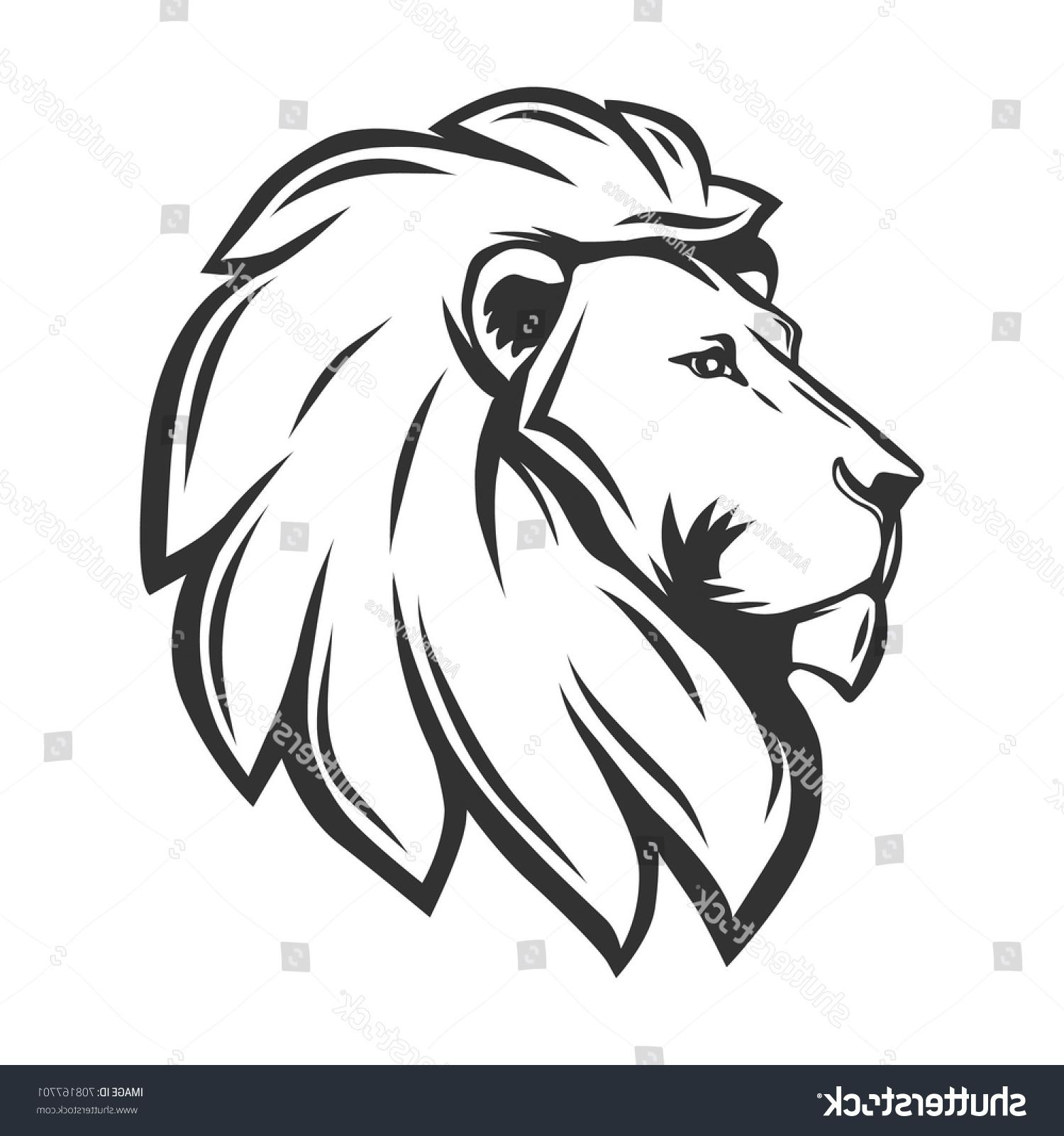 1500x1600 Best Hd Lion Head Profile Vector Library Free Vector Art, Images