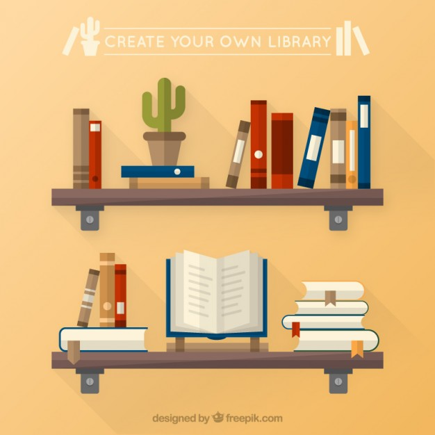 626x626 Create Your Own Library Vector Free Download