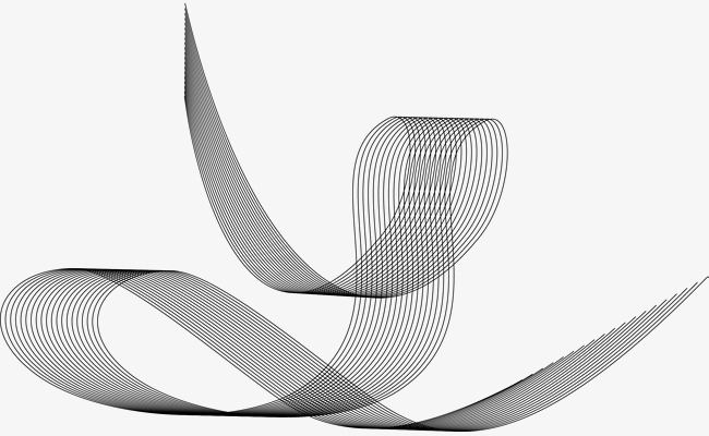 650x400 Curved Wave Vector Lines, Song, Line, Line Png And Vector For Free
