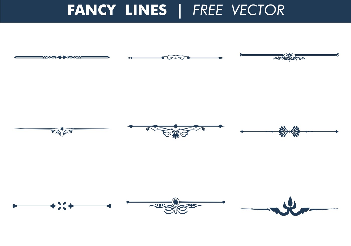 1400x980 Decorative Fancy Lines Free Vector Line 3