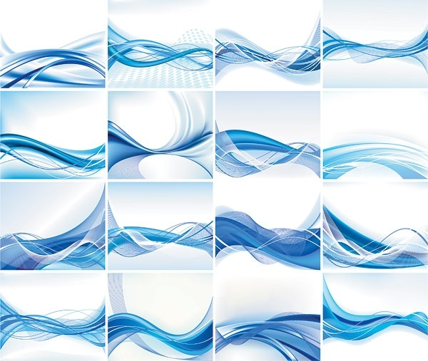 600x507 Dynamic Lines Of The Blue Background Vector Free Vector In