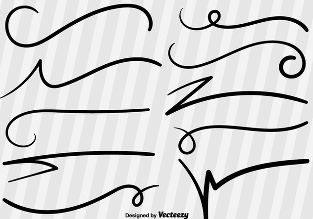 632x443 Swish Sketch Vector Lines Free Vector Download 355709 Cannypic