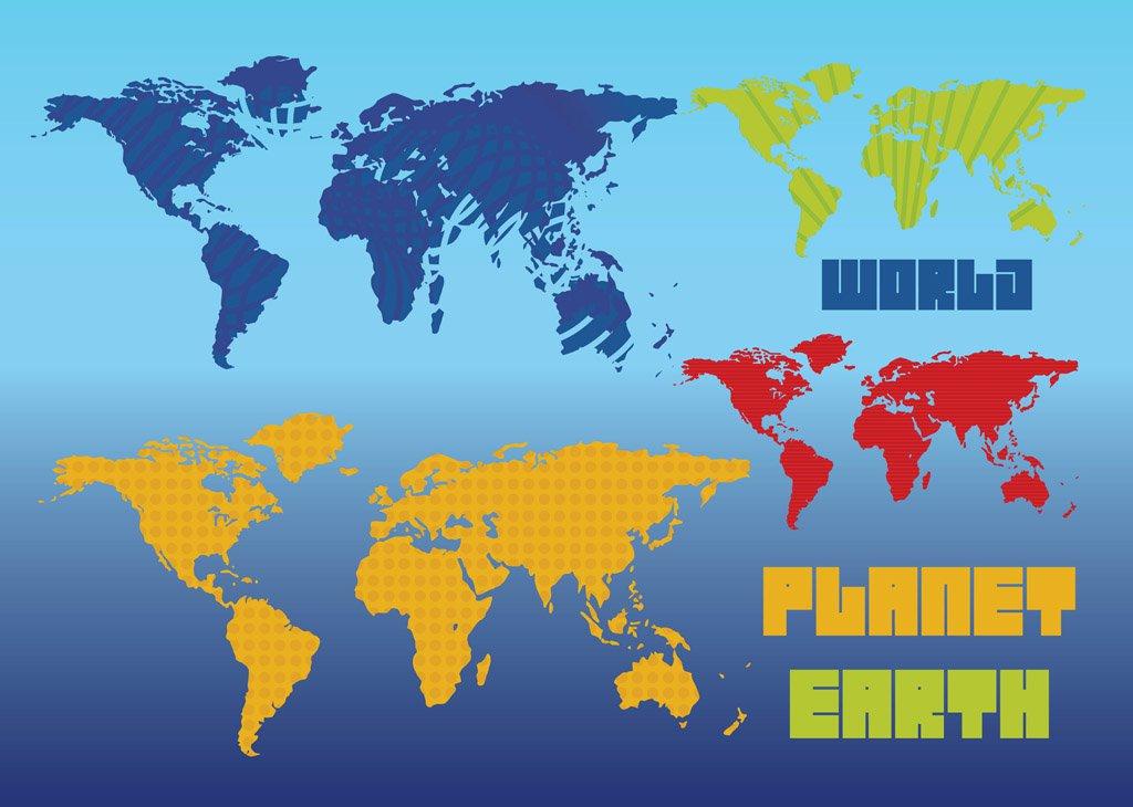 1024x730 Planet Earth Vector Maps Vector Art Amp Graphics