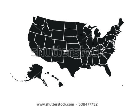450x358 Vector Map Of Us