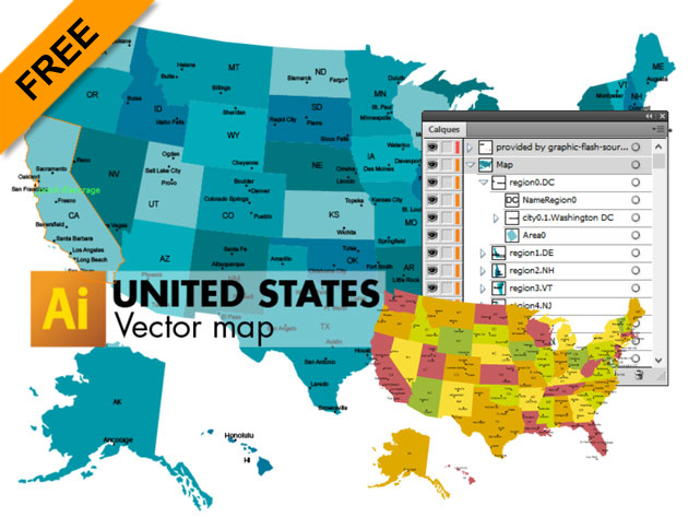 630x473 3 Free Vector Maps Of United States