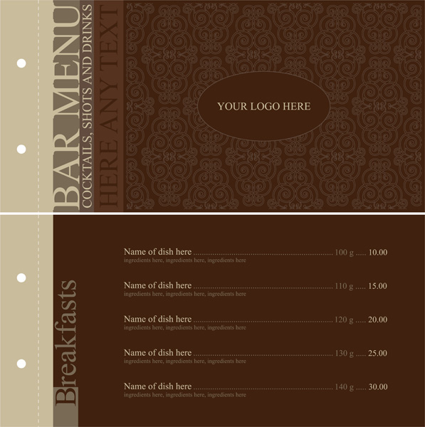 597x600 Europeanstyle Lace Pattern Vector Menu Templates Free Vector 4vector