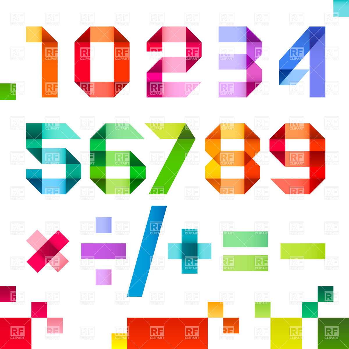 Free Vector Numbers