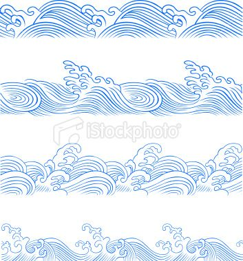353x380 Seamless Ocean Wave In Different Style Cool Ocean