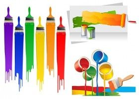 280x200 Paint Brushes Vector Collection Kolor Serwis