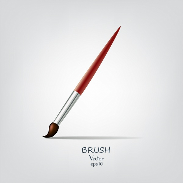600x600 Paint Brush For Drawing Or Makeup Free Vector In Adobe Illustrator