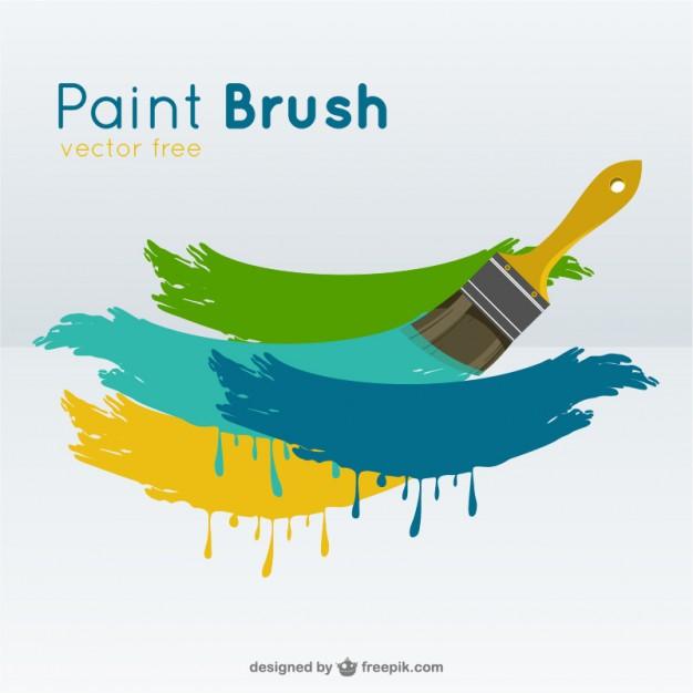 626x626 Paint Brush Vector Vector Free Download