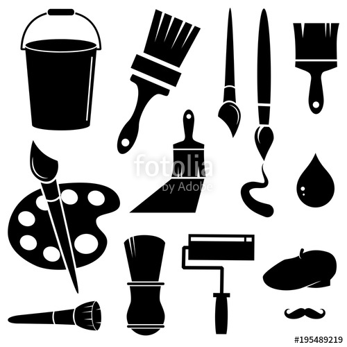 500x500 Paint Brush Vector Icon. Stock Image And Royalty Free Vector