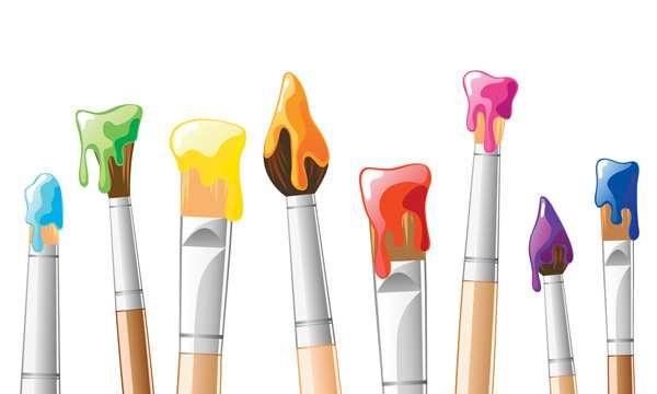 600x360 Painting Vector Luxury Vector Brush Painting Background Free