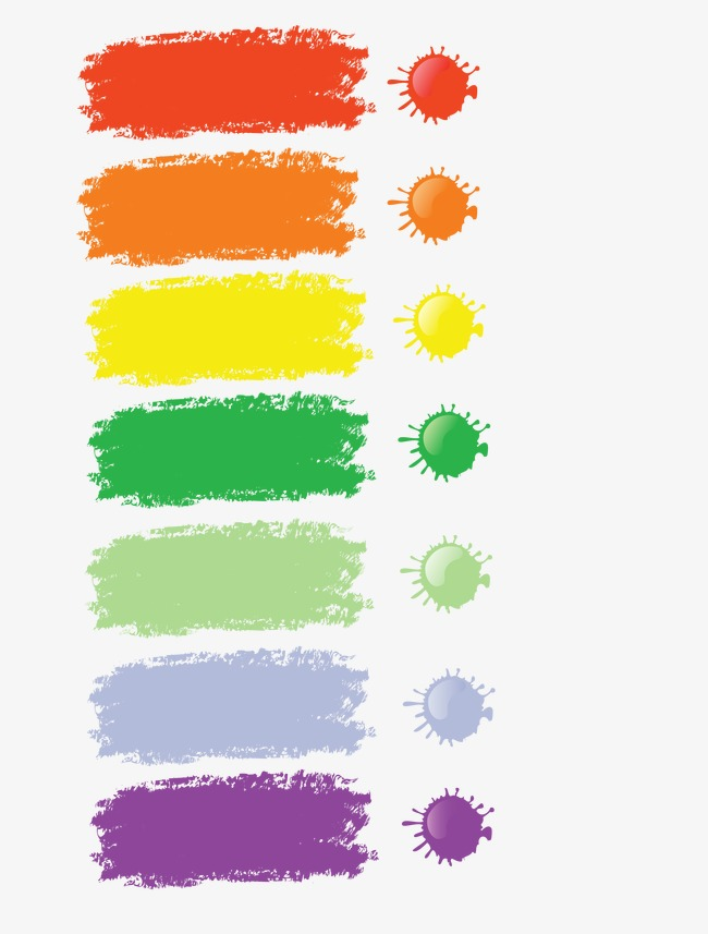 650x857 Vector Paint Brush Effect, Paint Vector, Brush Vector, Color Png
