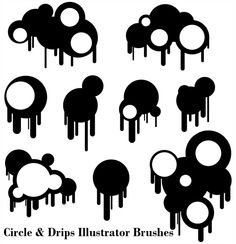 Free Vector Paint Drips
