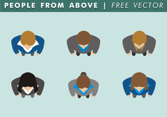 700x490 Free Vector People From Above Free Vector