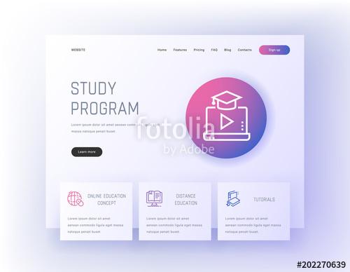 500x388 Study Program, Online Education Concept, Distance Education