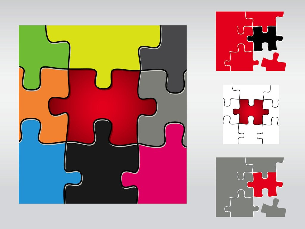 1024x769 Puzzle Pieces Vector Art Amp Graphics