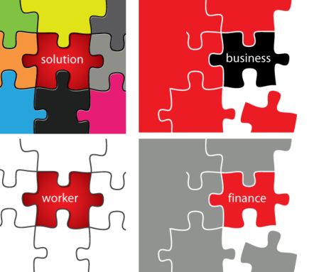 456x383 Free Vector Puzzle Pieces Solution Business Clipart And Vector