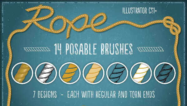 Free Vector Rope Brush