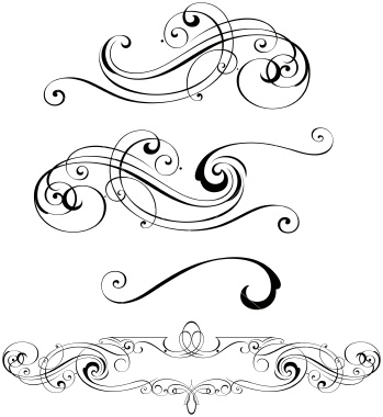 Free Vector Scrollwork