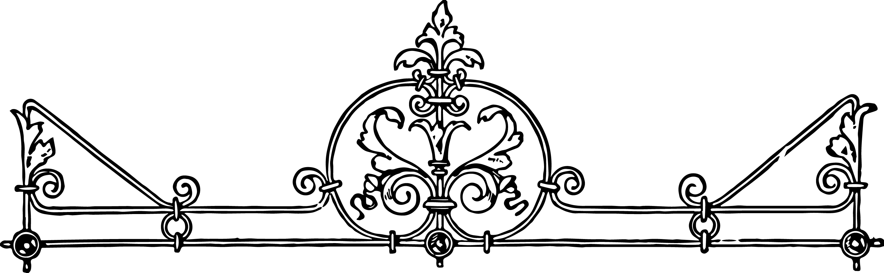 3071x949 Free Stock Vector Vintage Iron Scrollwork Oh So Nifty Vintage