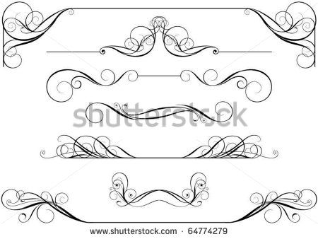 450x338 Free Vector Scrollwork 17 Best Scrolls Images