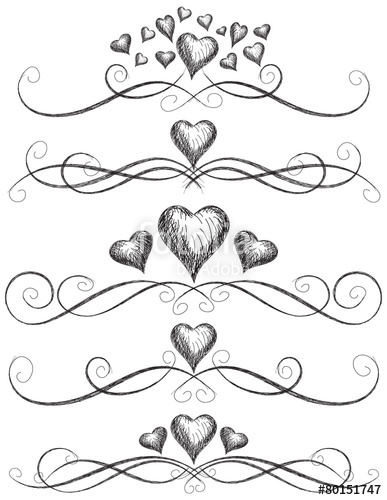 387x500 Heart Scroll Work Stock Image And Royalty Free Vector Files On