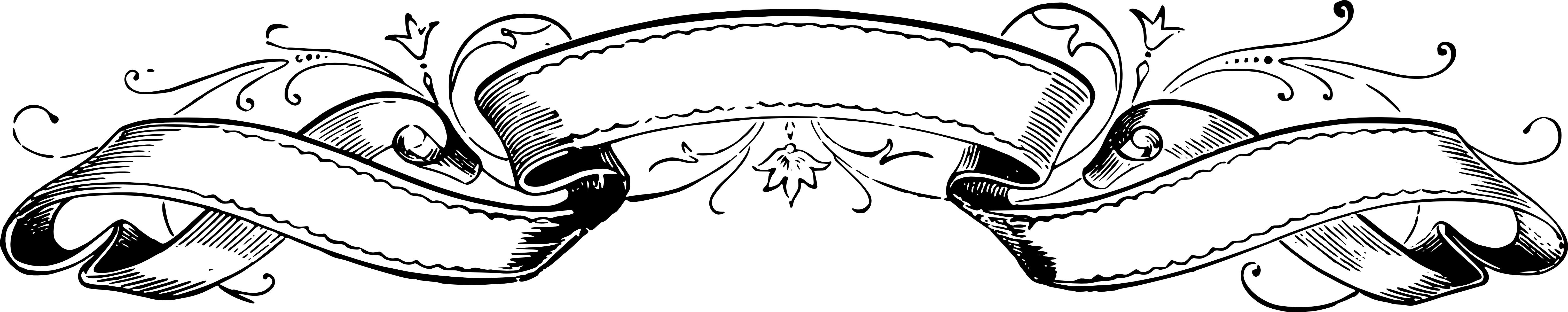 6072x1208 Scroll Clipart Vector Art