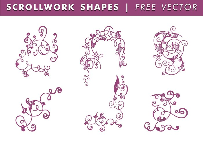 700x490 Scrollwork Shapes Free Vector 105190