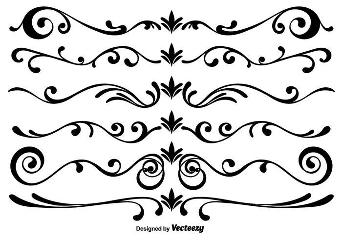 700x490 Vector Scrollwork Elements