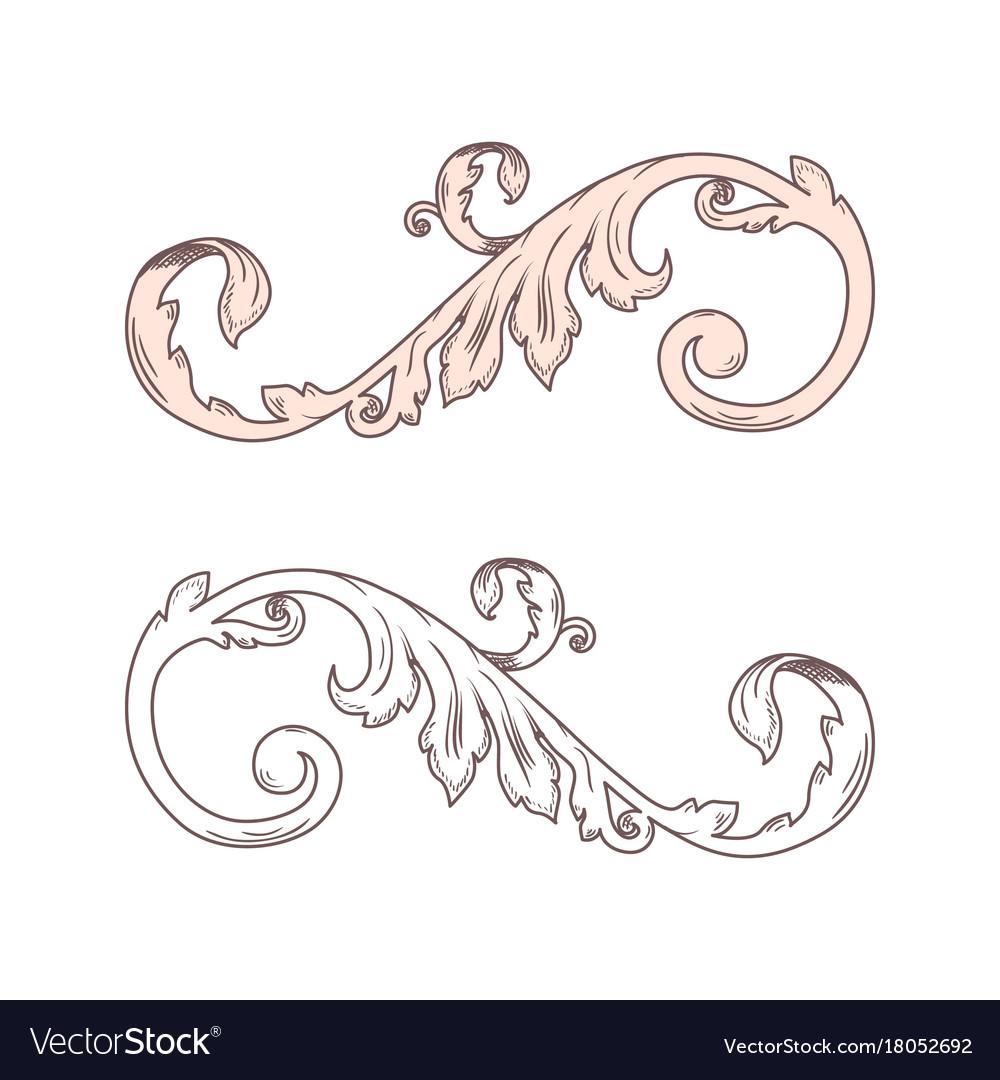 1000x1080 Curl Clipart Victorian Scroll