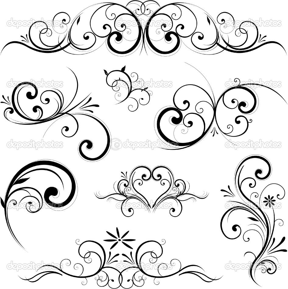 946x950 Fancy Scroll Designs Fancy Scroll Ornament Royalty Free Cliparts