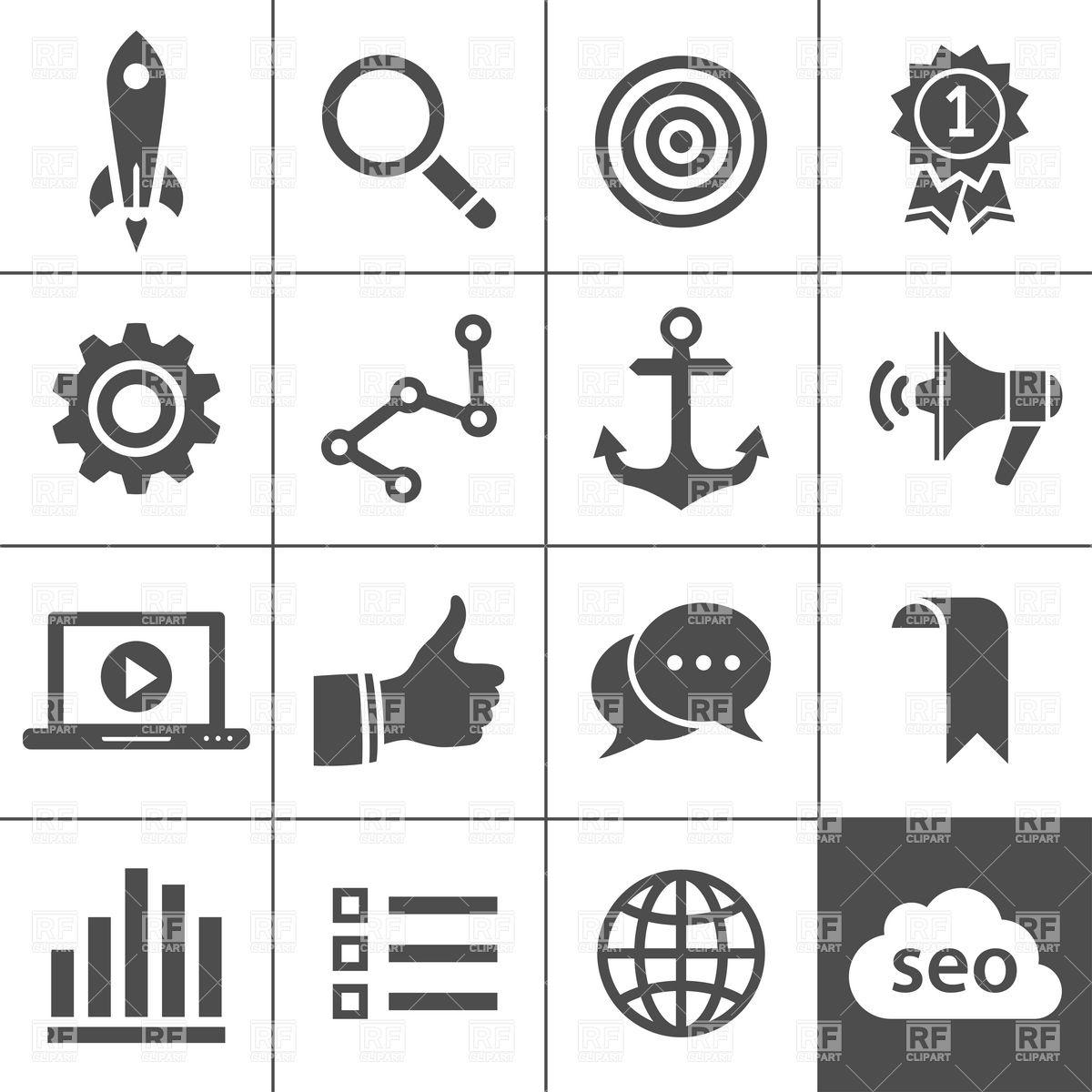1200x1200 Search Engine Optimization, Analytics And Internet Marketing Icons