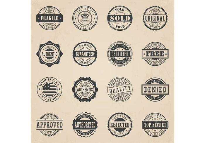 700x490 Free Commercial Stamp Vector Set