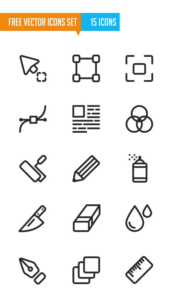 600x1048 Free Vector Icons Set (15 Icons)