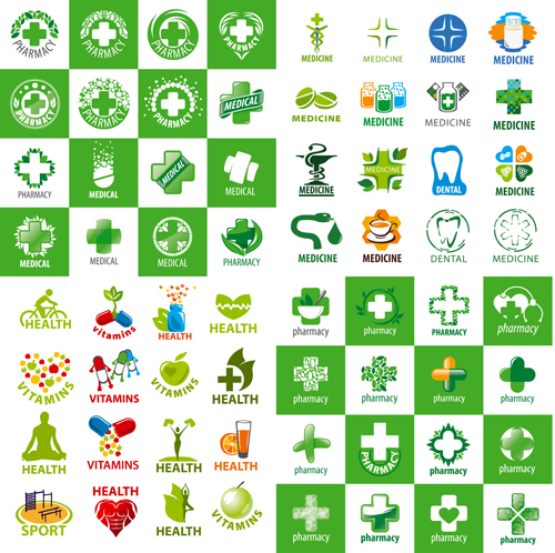 500x498 Medical With Pharmacy And Health Logos Vector Set Free Download