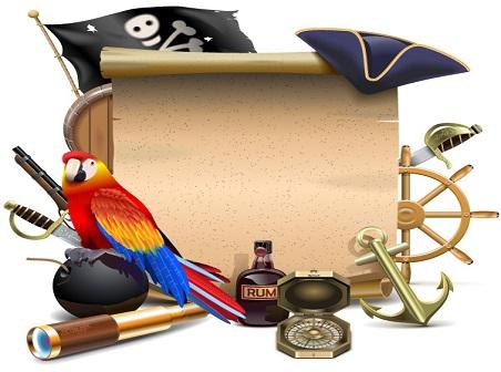 452x336 Pirate Element Vector Set