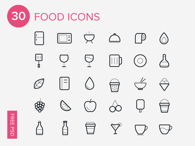 800x600 Web Icons Free Vector Food And Kitchen Icon Sets