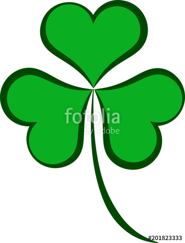 381x500 Shamrock Three Leaf Clover Calligraphic Stock Image And Royalty