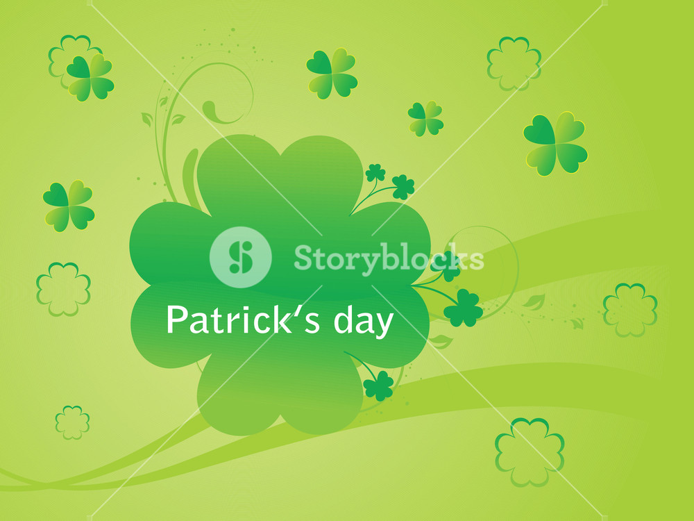 1000x750 Vector Shamrock Floral Abstract Illustration 17 Mach Royalty Free